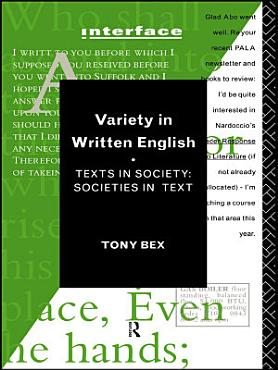 Variety in Written English PDF