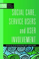 Social Care  Service Users and User Involvement PDF
