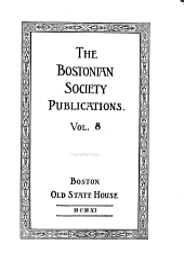 The Bostonian Society Publications