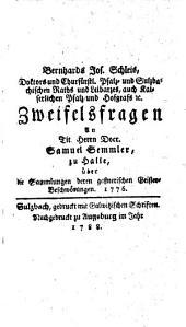 Neueste Sammlung jener Schriften, die von einigen Jahren her über verschiedene wichtige Gegenstände zur Steuer der Wahrheit im Drucke erschienen sind: Band 40