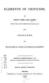 Elements of Criticism PDF