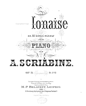 Polonaise en si-bémol mineur pour piano, op. 21