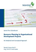 Resource Planning in Organisational Development Projects PDF
