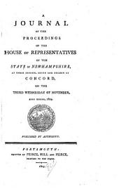 Proceedings of the Honorable House of Representatives