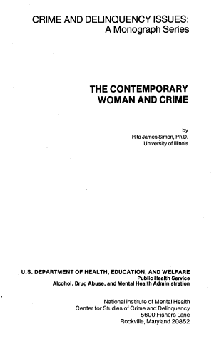 The contemporary woman and crime PDF