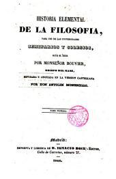 Historia elemental de la filosofía: para uso de las Universidades, seminarios y colegios