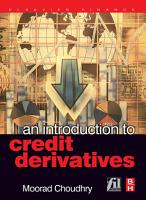 An Introduction to Credit Derivatives PDF
