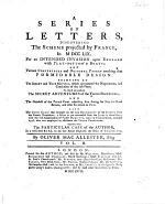 A Series of Letters discovering the scheme projected by France in 1759 for an intended invasion upon England. ... To which are prefixed the secret adventures of the Young Pretender. ... Together with the particular case of the author, in a memorial to ... the Duke of Cumberland