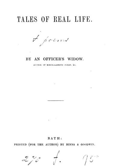 Tales of real life  by an officer s widow  E  Pilfold   PDF