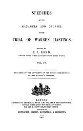 Speeches of the Managers and Counsel in the Trial of Warren Hastings: Volume 4