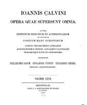 Ioannis Calvini opera quae supersunt omnia: Volumes55à56