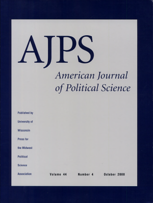 AMERICAN JOURNAL OF POLITICAL SCIENCE  VOL 44  NO 4  OCTOBER 2000 PDF