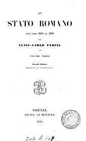 Lo stato Romano dall'anno 1815 all'anno 1850