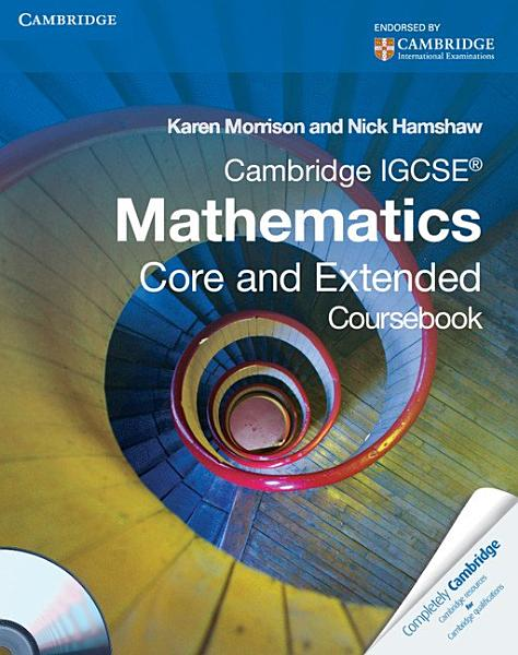 Extended Mathematics For Cambridge Igcse With Cd Rom Third Edition 2
