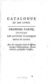 Catalogue des mes livres: Volume1