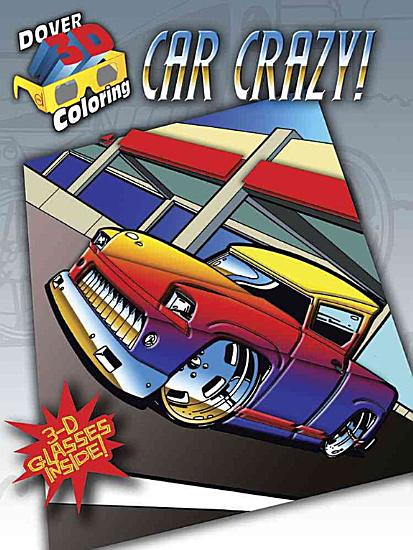 3 D Coloring Book  Car Crazy  PDF