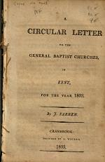 A Circular Letter to the General Baptist Churches, in Kent, for the Year 1803
