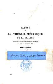 Exposé de la théorie mécanique de la chaleur