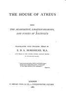 The House of Atreus PDF