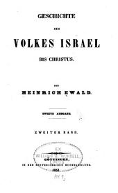 Geschichte des Volkes Israel bis Christus: Band 2