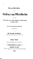 Geschichte der Grafen von Wertheim PDF