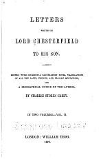Letters Written by Lord Chesterfield to His Son