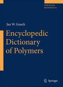Encyclopedic Dictionary of Polymers PDF