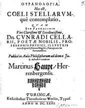 Uranologia, hoc est coeli stellarumque contemplatio