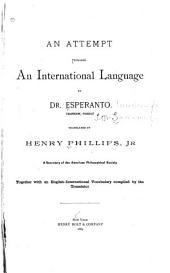An Attempt Towards an International Language