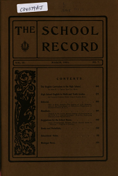 School Record: Volume 9, Issue 7