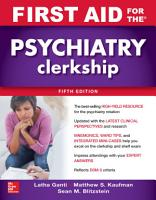First Aid for the Psychiatry Clerkship  Fifth Edition PDF