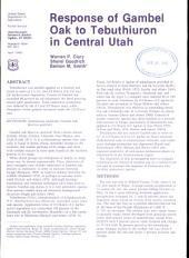 Response of gambel oak to tebuthiuron in central Utah