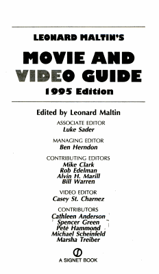 Leonard Maltin s movie and video guide PDF