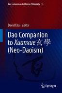 Dao Companion to Xuanxue 玄學 (Neo-Daoism)