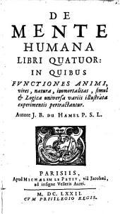 De mente humana: libri quatuor