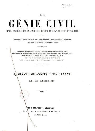 Le G  nie Civil PDF
