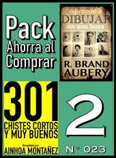 301 Chistes Cortos y Muy Buenos & Aprende a dibujar en una hora: Pack Ahorra al Comprar 2 (Nº 023)