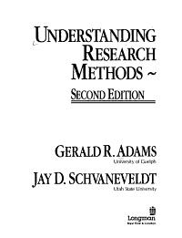Understanding Research Methods Book