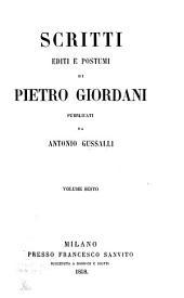 Opere di Pietro Giordani: Volume 13