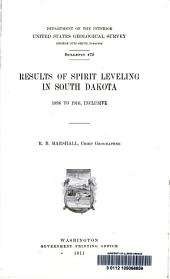 Results of spirit leveling in South Dakota, 1896 to 1910, inclusive