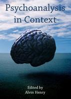 Psychoanalysis in Context PDF