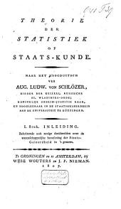 Theorie der statistiek of staats-kunde