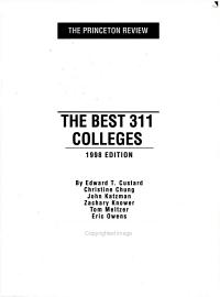 The Best 311 Colleges