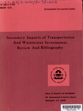 Secondary Impacts of Transportation and Wastewater Investments PDF