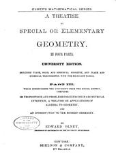 A Treatise on Special Or Elementary Geometry: Volumes 1-2