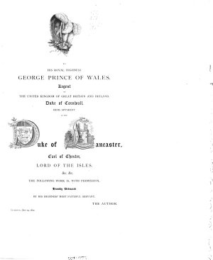 Portfolio of Fragments Relative to the History and Antiquities  Topography and Genealogies of the County Palatine and Duchy of Lancaster