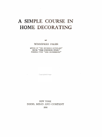 A Simple Course in Home Decorating PDF