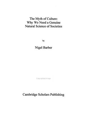 The Myth of Culture PDF