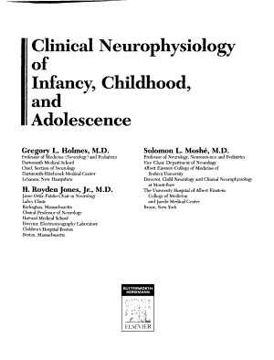 Clinical Neurophysiology of Infancy  Childhood  and Adolescence PDF