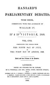 The Parliamentary Debates (Authorized Edition): Volume 107